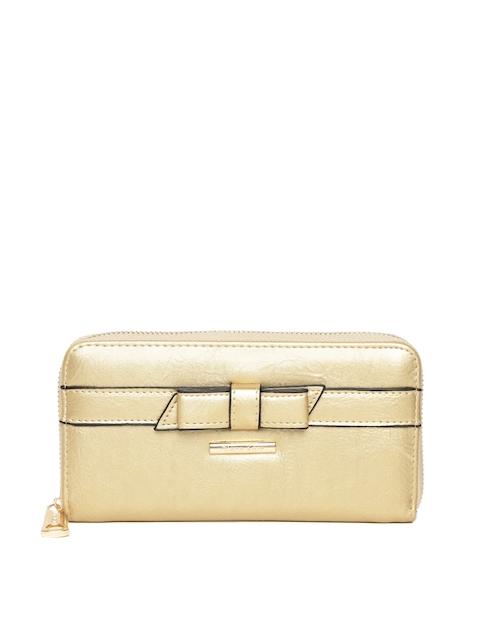 Diana Korr Women Gold-Toned Solid Zip Around Wallet
