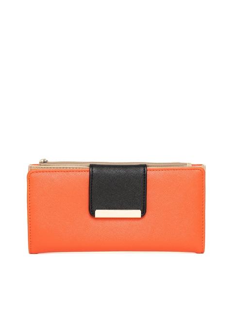 Diana Korr Women Orange Solid Two Fold Wallet