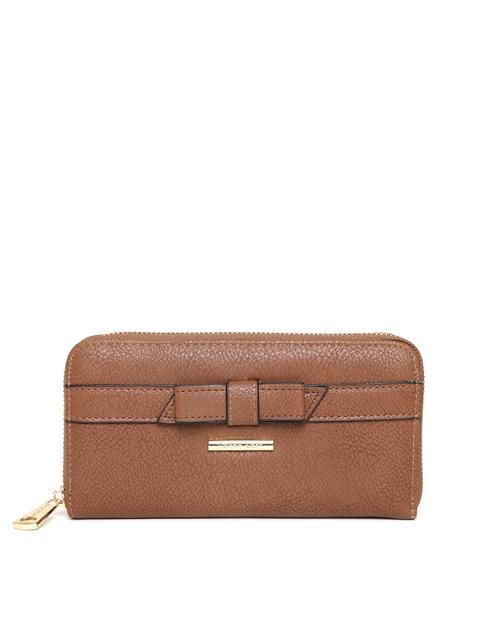 Diana Korr Women Brown Solid Zip Around Wallet