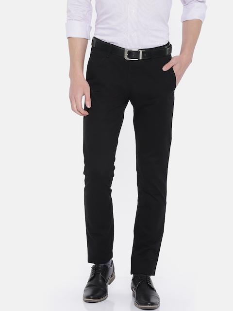 Park Avenue Men Black Slim Fit Formal Tousers