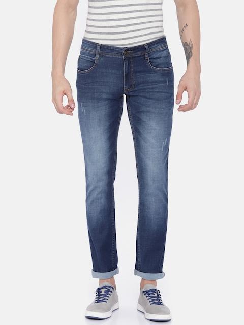 Park Avenue Men Blue Regular Fit Mid-Rise Stretchable Jeans