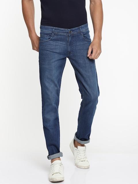 Park Avenue Men Blue Regular Fit Mid-Rise Clean Look Stretchable Jeans