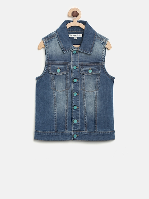 Allen Solly Junior Boys Blue Denim Jacket