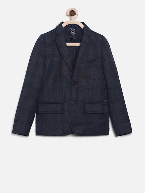 Allen Solly Junior Boys Blue Regular Fit Single-Breasted Formal Blazer