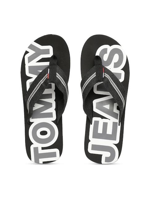 Tommy Hilfiger Men Black Printed Beach Thong Flip-Flops