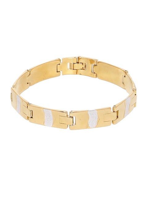 Dare by Voylla Gold-Toned Brass Gold-Plated Handcrafted Link Bracelet