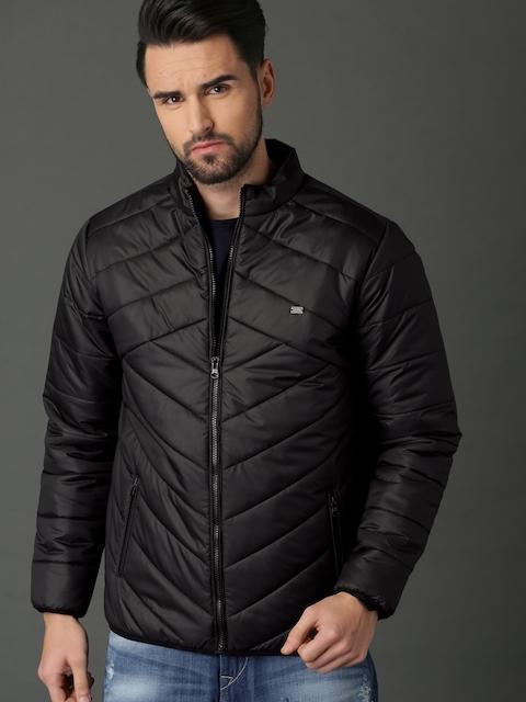 Roadster Men Black Solid Puffer Jacket