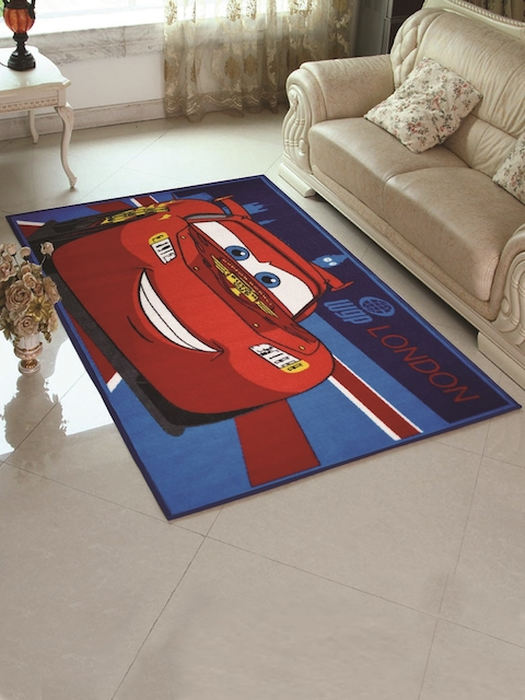 Disney Red & Blue Printed Carpet