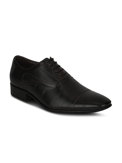 Kielz Men Black Formal Leather Oxford Shoes