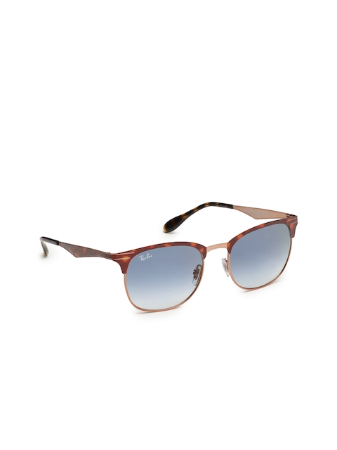Ray-Ban Unisex Browline Sunglasses 0RB35389074X053