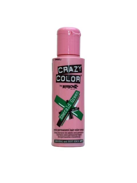 Crazy Color Unisex Emerald Green 53 Semi-Permanent Hair Colour 100 ml