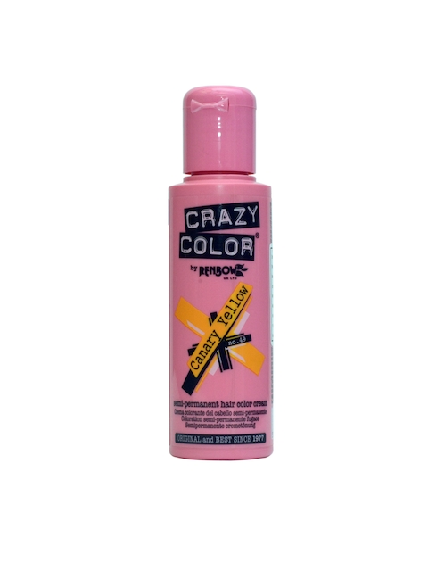 Crazy Color Unisex Canary Yellow 49 Semi-Permanent Hair Colour 100ml