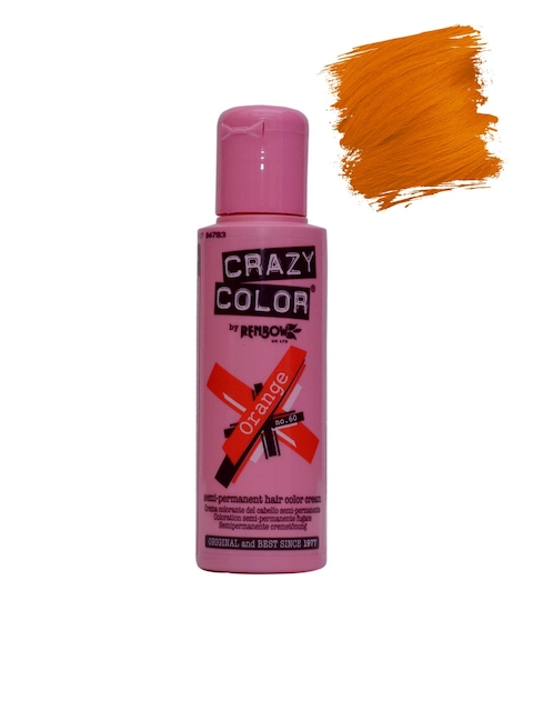 Crazy Color Unisex Orange Semi-Permanent Hair Colour Cream 60 100 ml