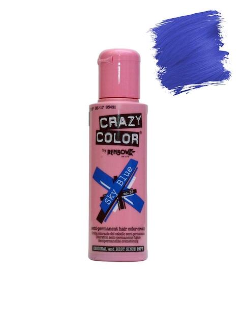 Crazy Color Unisex Sky Blue Semi-Permanent Hair Colour Cream 59 (100 ml)