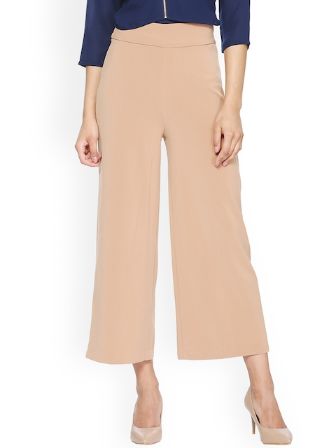 Van Heusen Woman Women Beige Regular Fit Solid Culottes