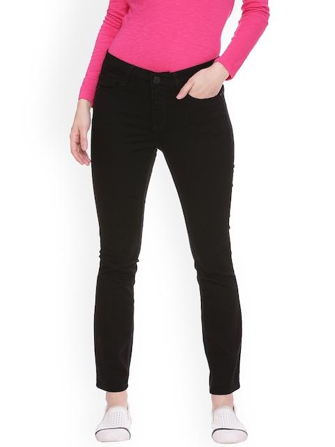 Van Heusen Woman Black Regular Fit Mid-Rise Clean Look Stretchable Jeans