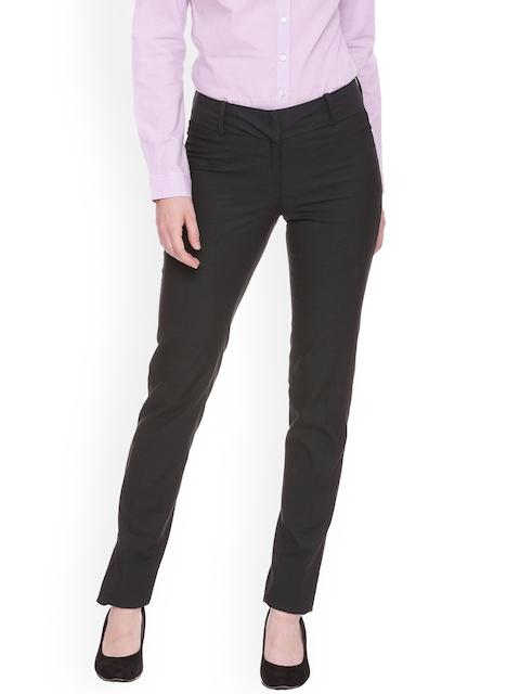 Van Heusen Woman Grey Regular Fit Solid Formal Trousers