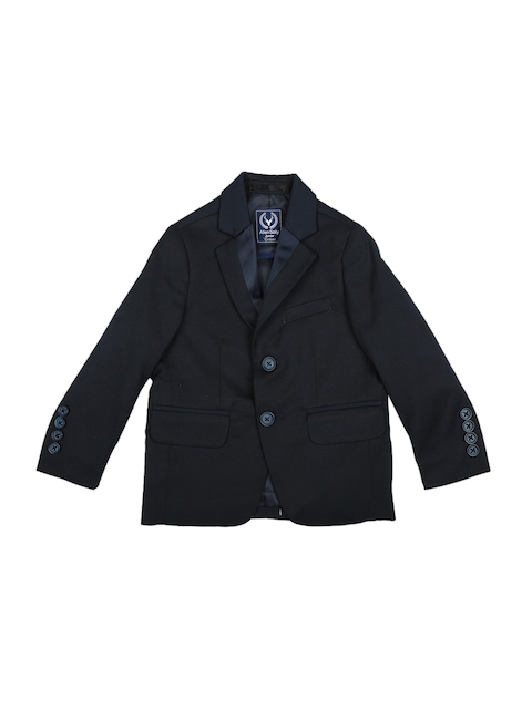 Allen Solly Junior Boys Navy Blue Single-Breasted Blazer