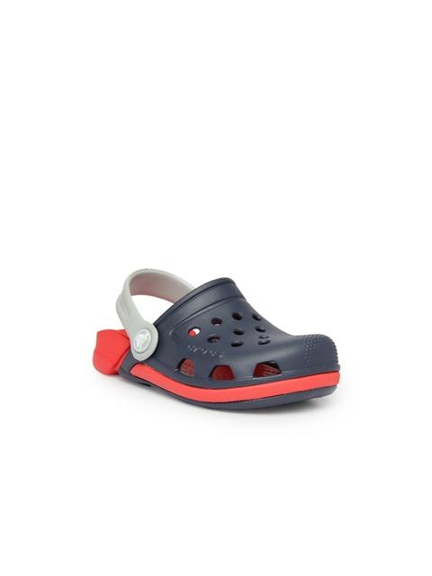 Crocs Boys Navy Blue & Red Clogs