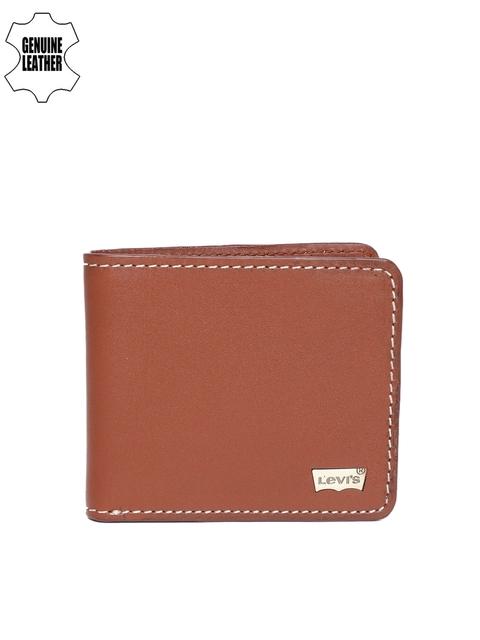 Levis Men Tan Solid Two Fold Wallet
