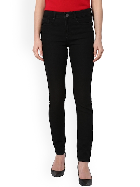 Van Heusen Woman Women Black Slim Fit Mid-Rise Clean Look Jeans