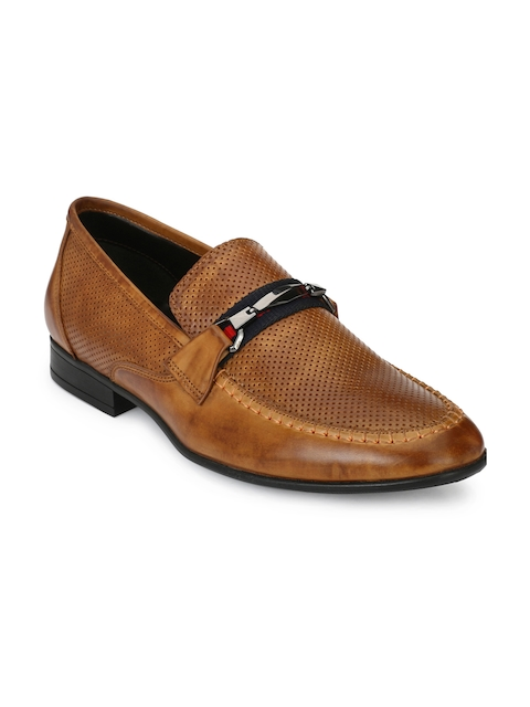 Alberto Torresi Men Tan Formal Oxfords