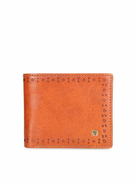 Van Heusen Men Brown Solid Two Fold Wallet