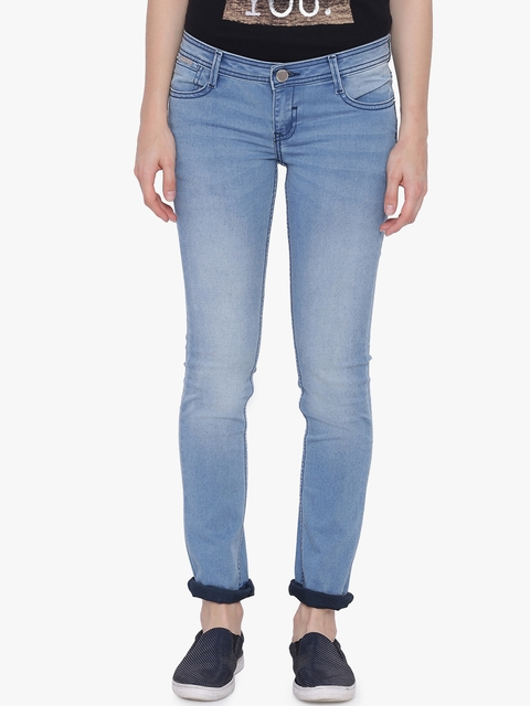 Van Heusen Woman Women Blue Regular Fit Mid-Rise Clean Look Jeans