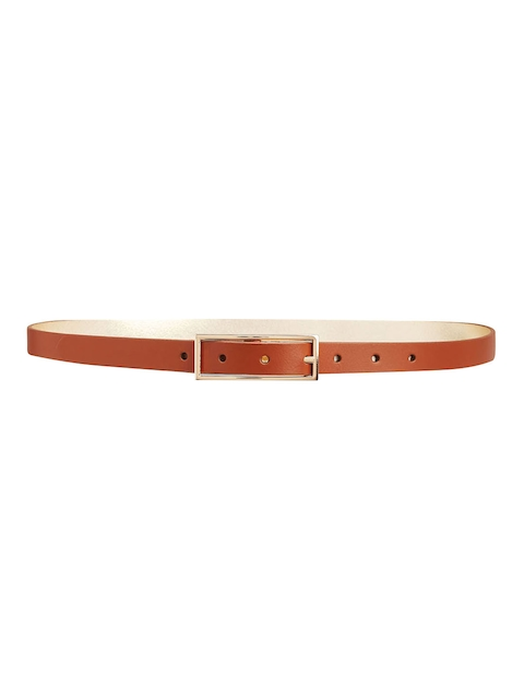 next Women Tan Solid Reversible Leather Belt