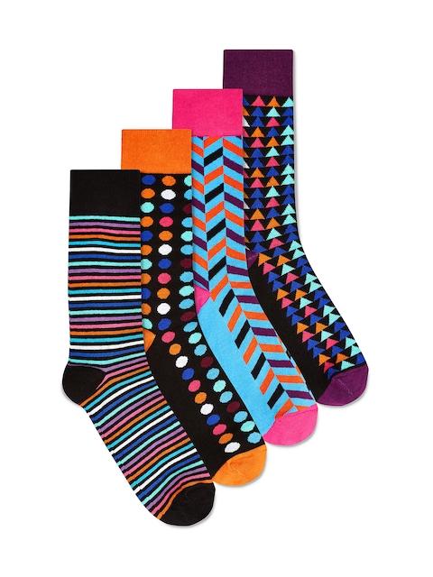 next Men Multicolour Pack of 4 Calf Length Socks