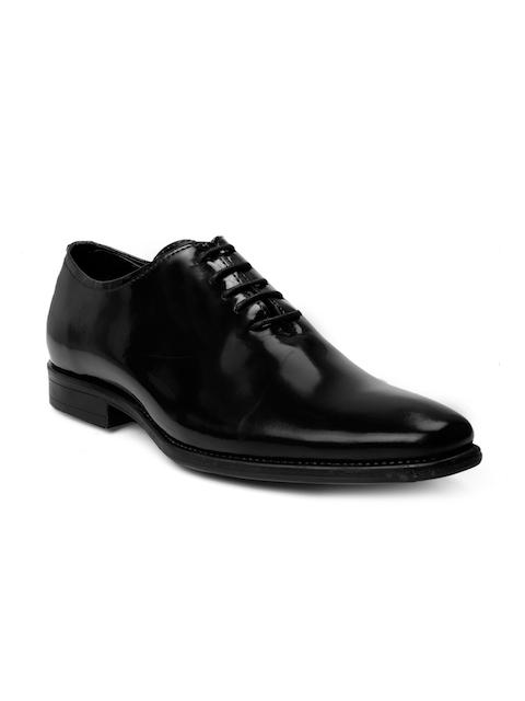 bacca bucci Men Black Formal Leather Oxford Shoes