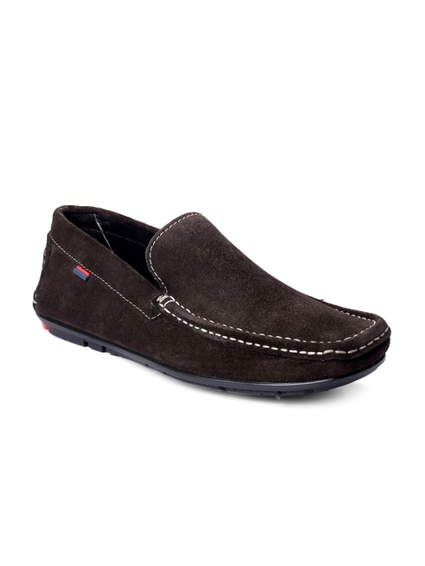 bacca bucci Men Brown Solid Leather Loafers