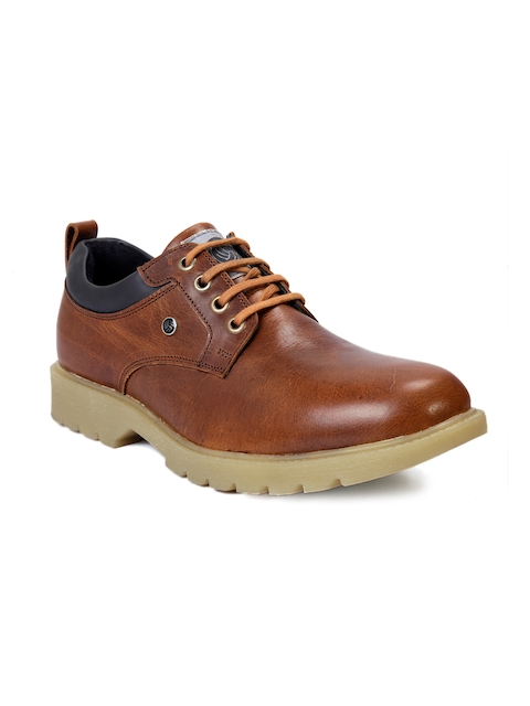 bacca bucci Men Brown Leather Flat Boots