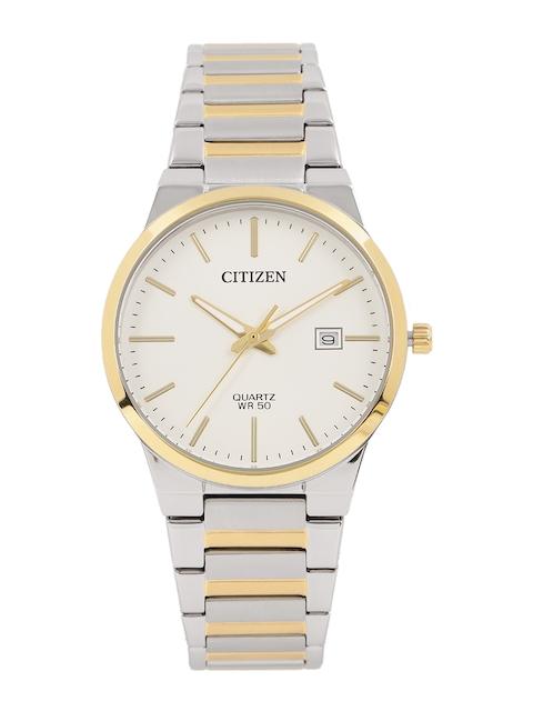 Citizen Men White Analogue Watch