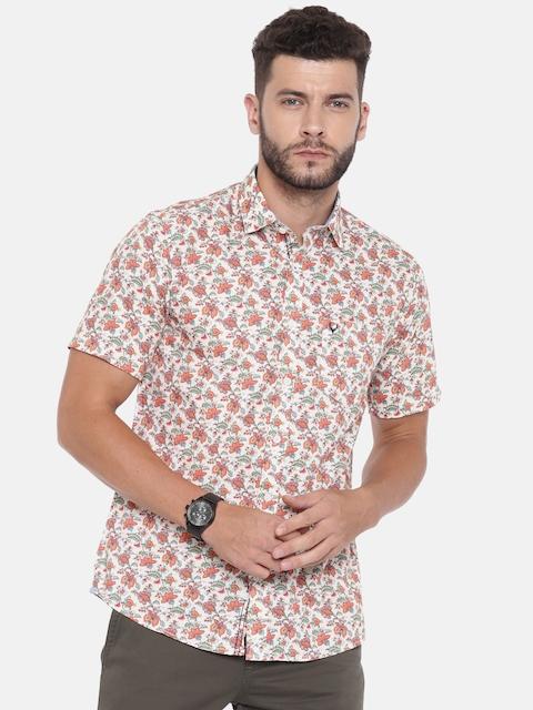 Allen Solly Men Beige Sport Regular Fit Printed Casual Shirt