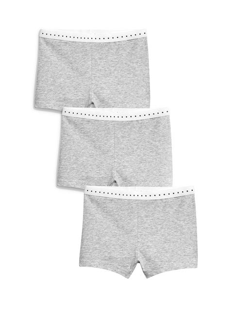 next Girls Pack of 3 Grey Melange Basic Briefs SR01ST217273
