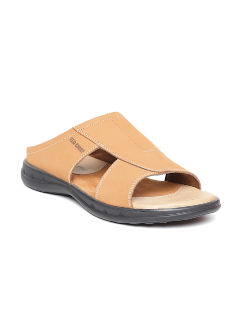 Red Chief Men Tan Brown Comfort Sandals