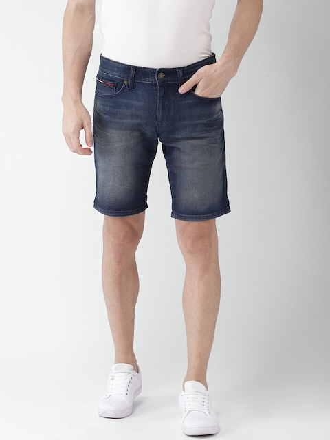 Tommy Hilfiger Men Blue Washed Regular Fit Denim Shorts