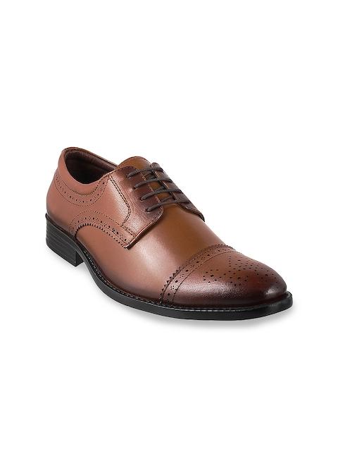Mochi Men Tan Leather Oxford Brogues