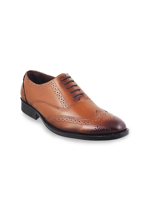 Mochi Men Tan Leather Brogues