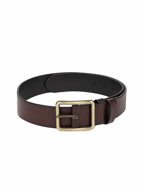 Levis Men Brown Genuine Leather Textured Belt