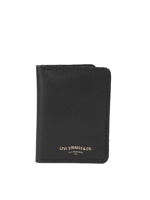 Levis Men Black Solid Card Holder