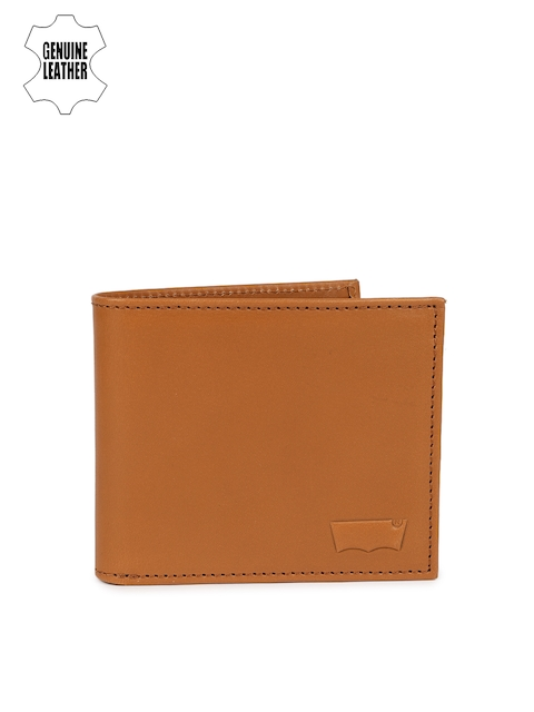 Levis Men Tan Solid Two Fold Wallet
