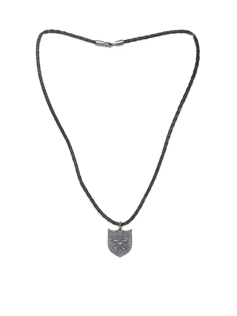 Dare by Voylla Men French Lily Camp Royale Pendant