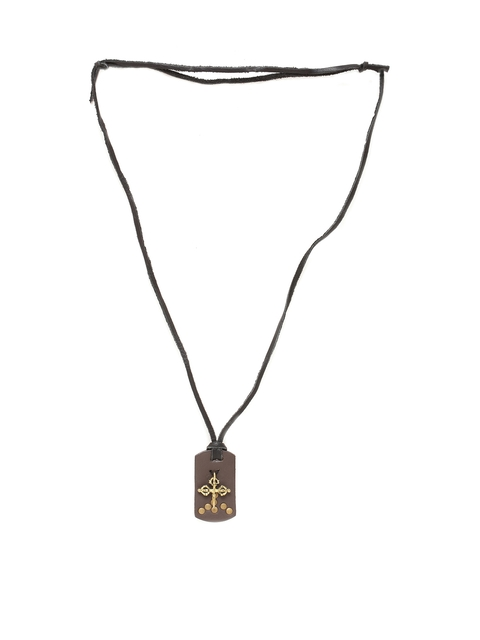 Dare by Voylla Men Stylish Celtic Cross on Faux Leather Pendant