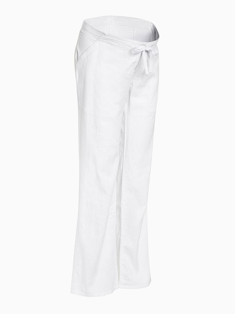 next Women White Loose Fit Solid Maternity Trousers