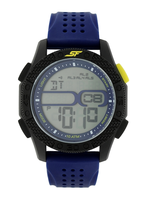 Sonata Men Grey Digital Watch 77057PP01