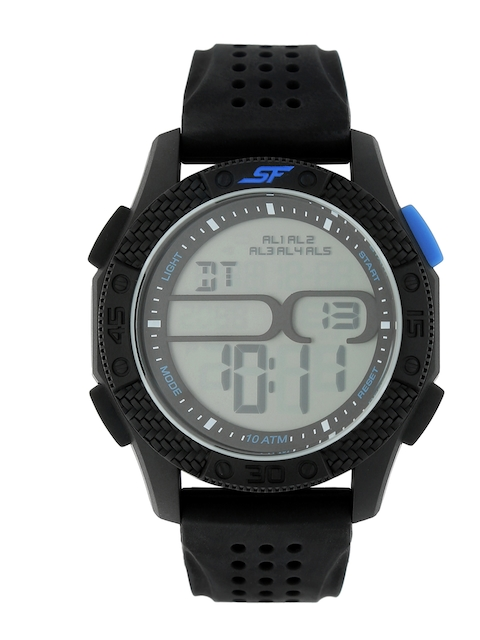 Sonata Men Grey Digital Watch 77057PP02