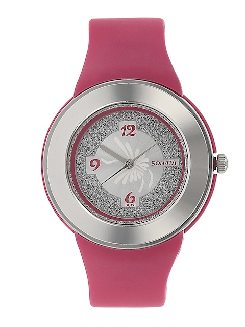 Sonata Women Pink Digital Watch