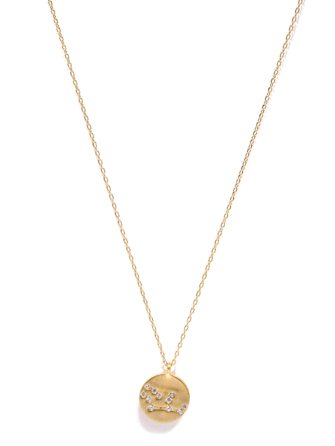 Accessorize Gold-Plated Virgo Pendant with Chain